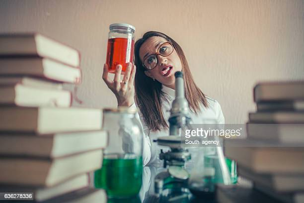 Young girl scientist