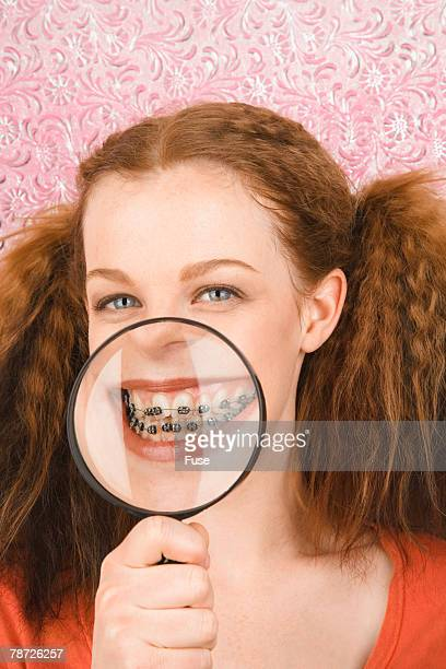 Young Girl Showing Off Her Braces