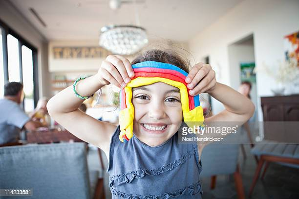 young girl smiles for the camera