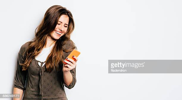 Young girl texting