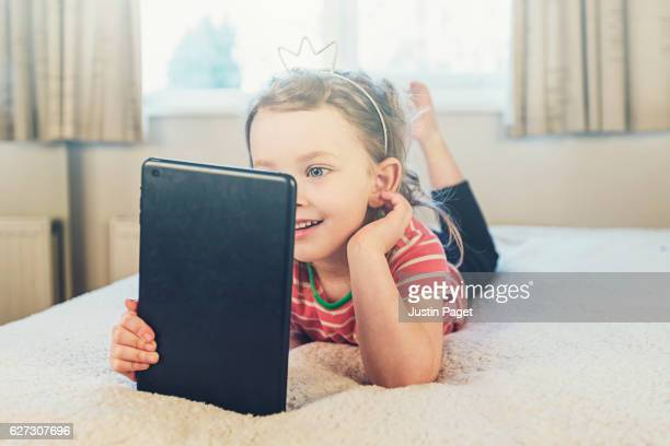 Young Girl using Tablet Computer