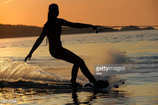 Young Girl Wakeboarding at the Cote D'Azur