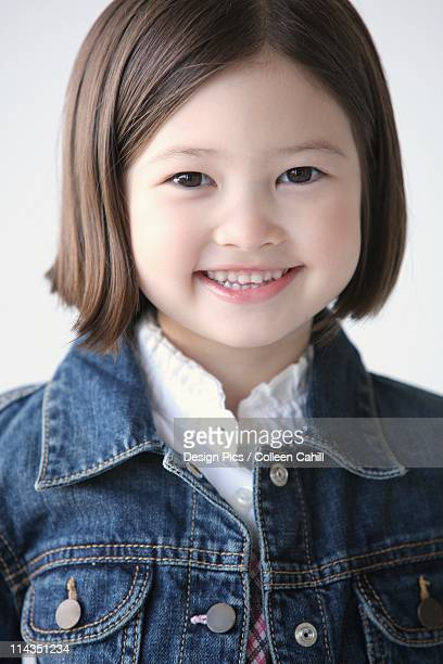 Young Girl With Denim Jacket