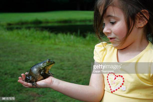 Young girl with Frog
