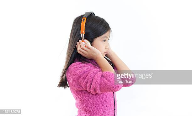 Young girl with headphone