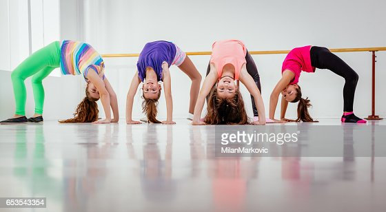 Young Girls Dancers : Stock Photo