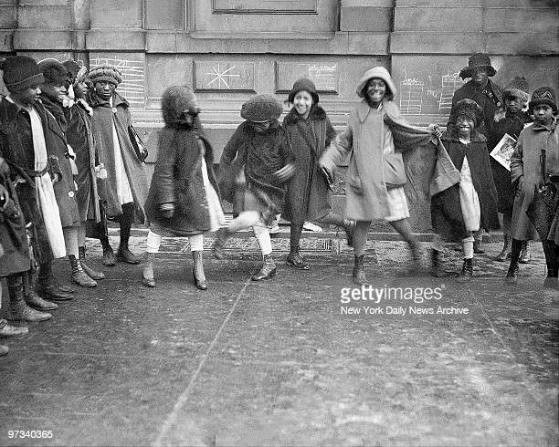 Young girls dancing the Charleston in Harlem in 1920's