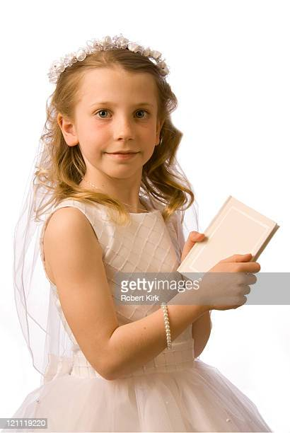 Young girls first Holy Communion