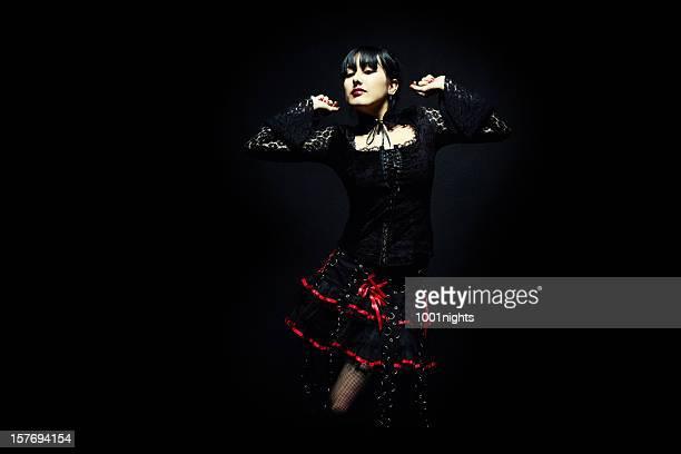 Junge gothic Mädchen