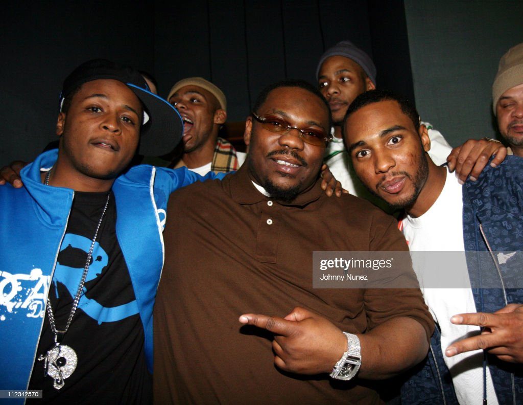 Young Gunz, <a gi-track='captionPersonalityLinkClicked' href=/galleries/search?phrase=Beanie+Sigel&family=editorial&specificpeople=227368 ng-click='$event.stopPropagation()'>Beanie Sigel</a> (Center) and guests during <a gi-track='captionPersonalityLinkClicked' href=/galleries/search?phrase=Beanie+Sigel&family=editorial&specificpeople=227368 ng-click='$event.stopPropagation()'>Beanie Sigel</a>'s Birthday Party - March 6, 2007 at 40-40 Club in New York City, New York, United States.