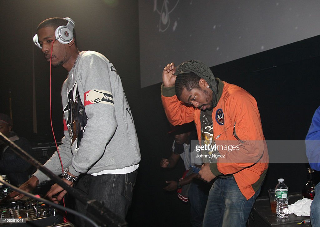Young Guru and producer Just Blaze attend the Roc-A-Fella Reunion at Gramercy Theatre on December 19, 2012 in New York City.