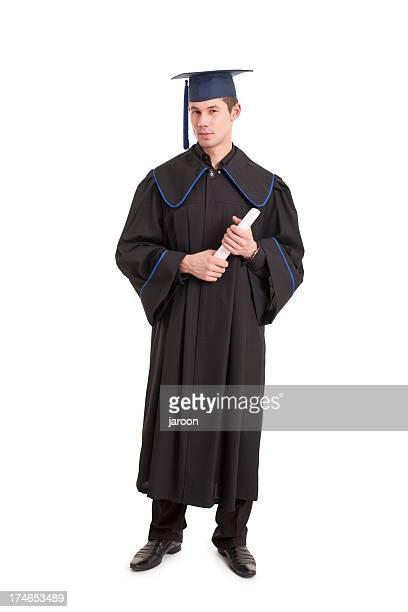 Jovem bonito graduação