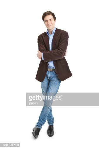 young handsome man in jacket