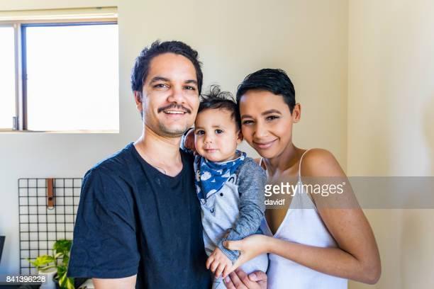 Young Happy Aboriginal Australian Family