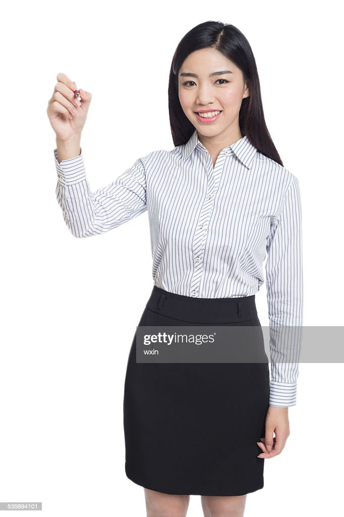 young happy business woman : Stock-Foto