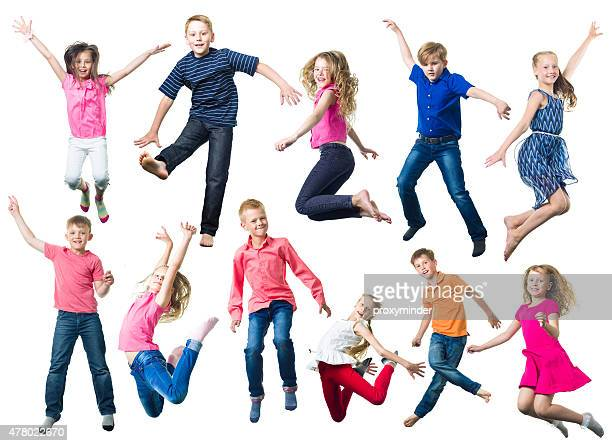 Young Happy Children Jumping