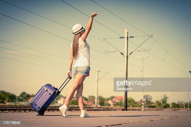 Young happy female Traveler