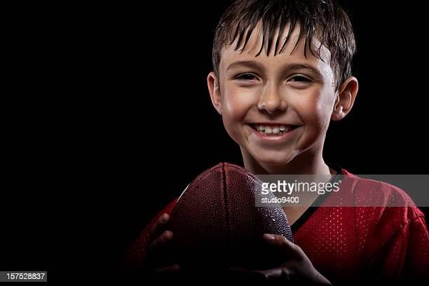 若い幸せなフットボール選手