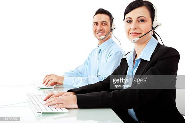 Young helpdesk operators