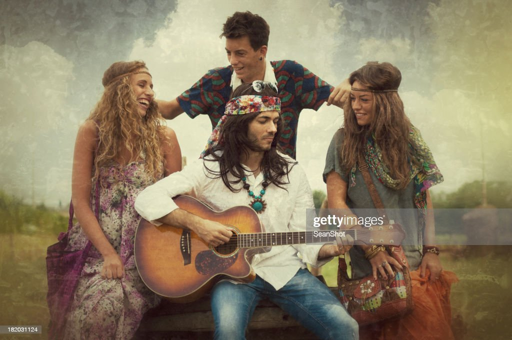 young hippies 1970s style stock photo getty images