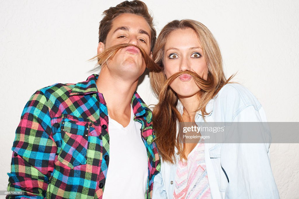 Revise las moustaches. : Foto de stock