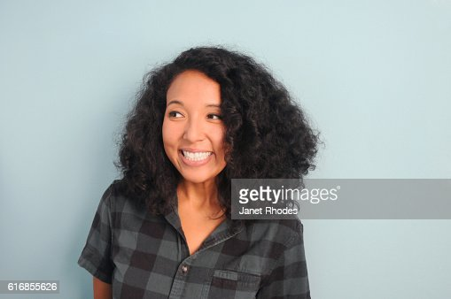 Young Hipster Woman Smiling : Stock Photo