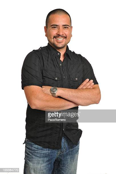 Young Hispanic man with big smile