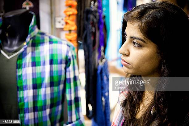 Young Indian Woman Shopping.