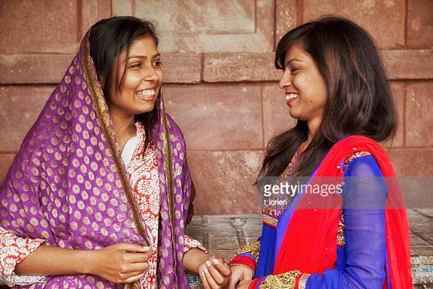 Young indian women in traditional clothing.