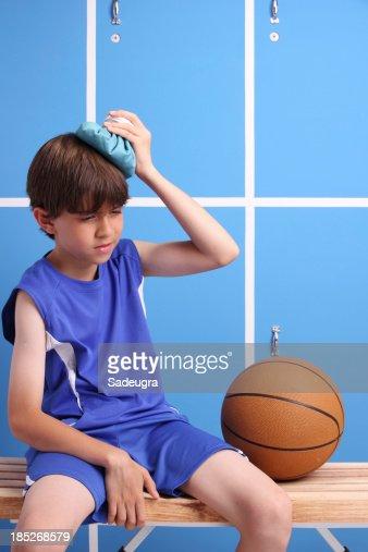 Young Injured Basketball Player