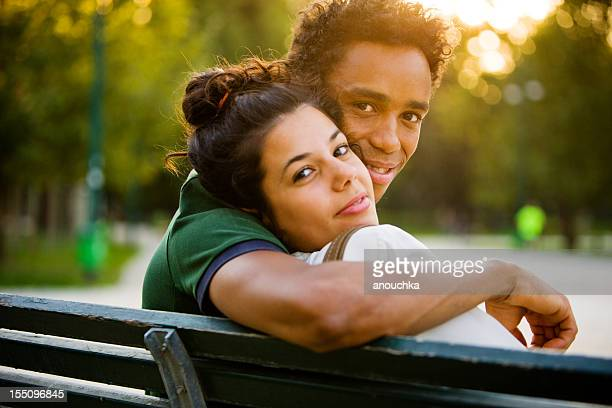 Young Italian Couple relaxing in park