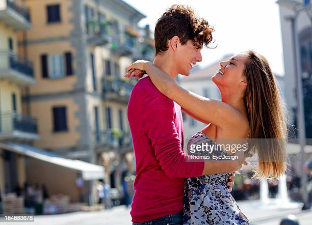 Couple lake district stock photos and pictures getty images young italians greeting each other on city street m4hsunfo
