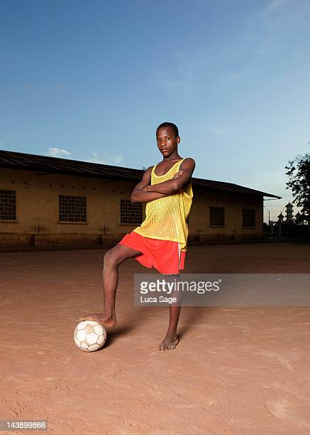 Young Ivorian Football Player