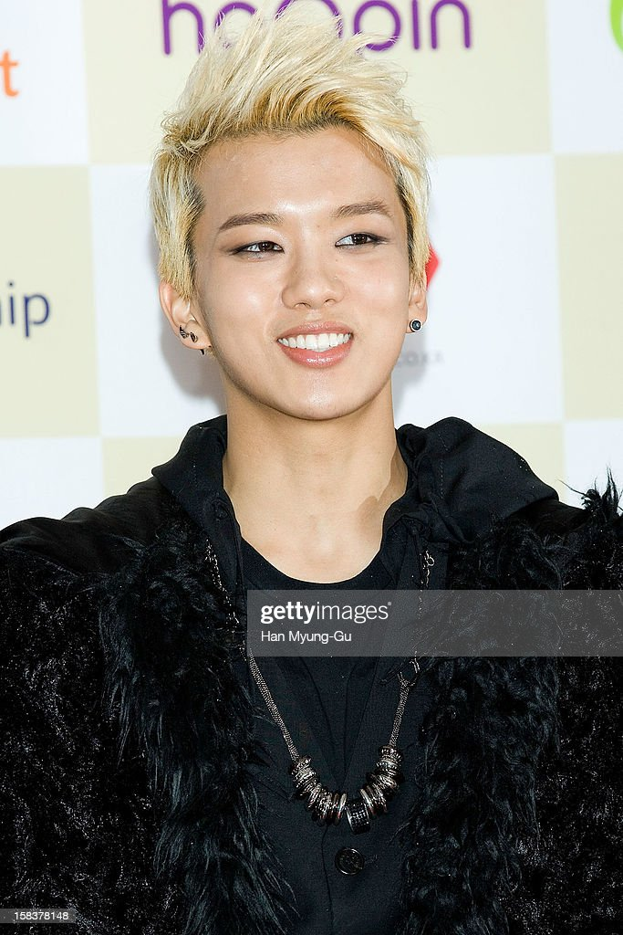 Young Jae of South Korean boy band B.A.P arrives at the 2012 Melon Music Awards at Olympic Gymnasium on December 14, 2012 in Seoul, South Korea.