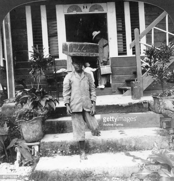 A young Jamaican porter Kingston Jamaica