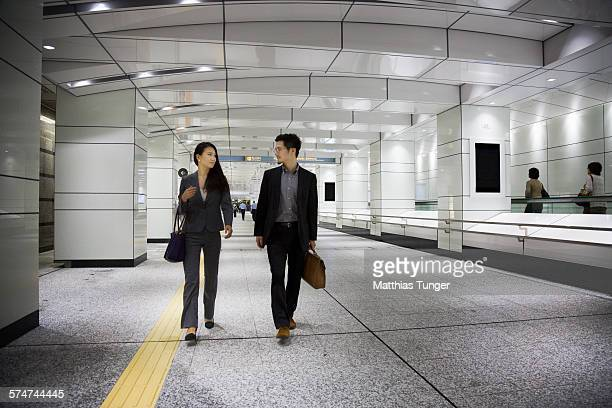 Young Japanese couple at the airport
