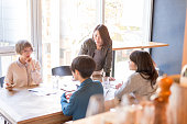 Young japanese ladies are on the bussiness meeting