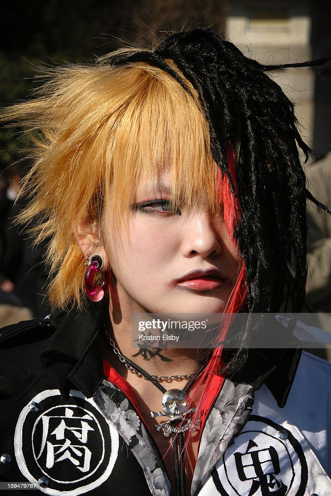 CONTENT] A young Japanese woman dresses up in cosplay as Ruki from the Japanese visual kei band Gazette. Every Sunday, Japanese youth congregate on the bridge outside Meiji Jingu Shrine in Harajuku to show off their cosplay outfits.