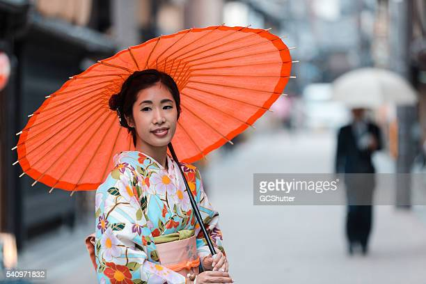 Young Japanese Woman Exploring Beautiful City of Kyoto in Japan