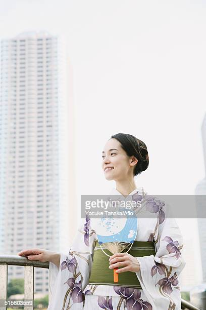 Young Japanese woman in a traditional kimono
