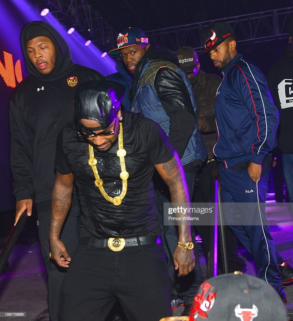 <a gi-track='captionPersonalityLinkClicked' href=/galleries/search?phrase=Young+Jeezy&family=editorial&specificpeople=537540 ng-click='$event.stopPropagation()'>Young Jeezy</a> and <a gi-track='captionPersonalityLinkClicked' href=/galleries/search?phrase=50+Cent+-+Rapper&family=editorial&specificpeople=215363 ng-click='$event.stopPropagation()'>50 Cent</a> attend AG Entertainment Presents Jeezy Inauguration Weekend on January 20, 2013 in Washington, United States.