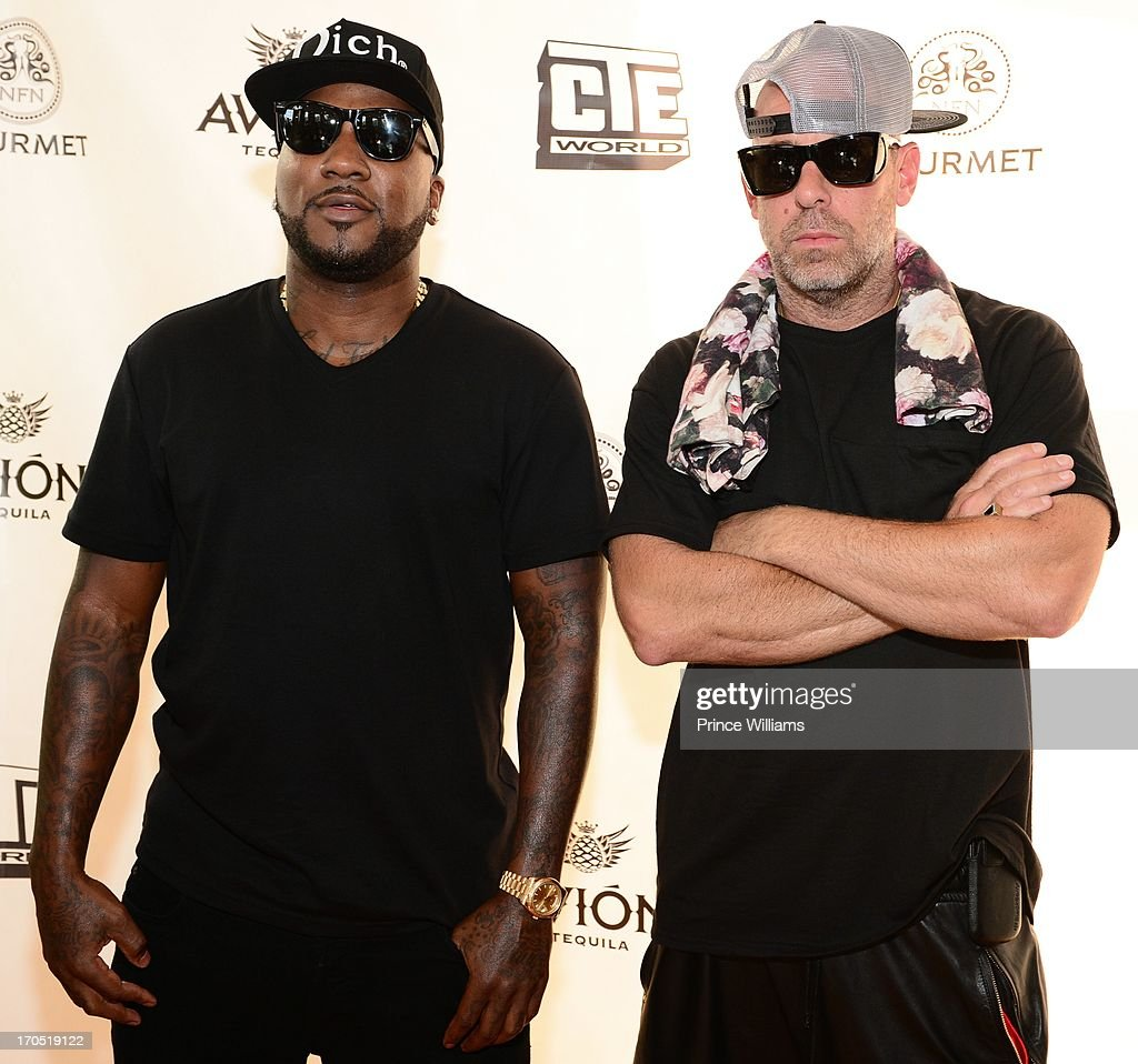Young Jeezy and Gregory Lucci attend the Young Jeezy and Gourmet Footwear branding partnership launch at Wish Shoe Store on June 13, 2013 in Atlanta, Georgia.