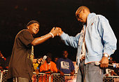 Young Jeezy and JayZ during Hot 1079 Birthday Bash at Philips Arena in Atlanta Ga United States