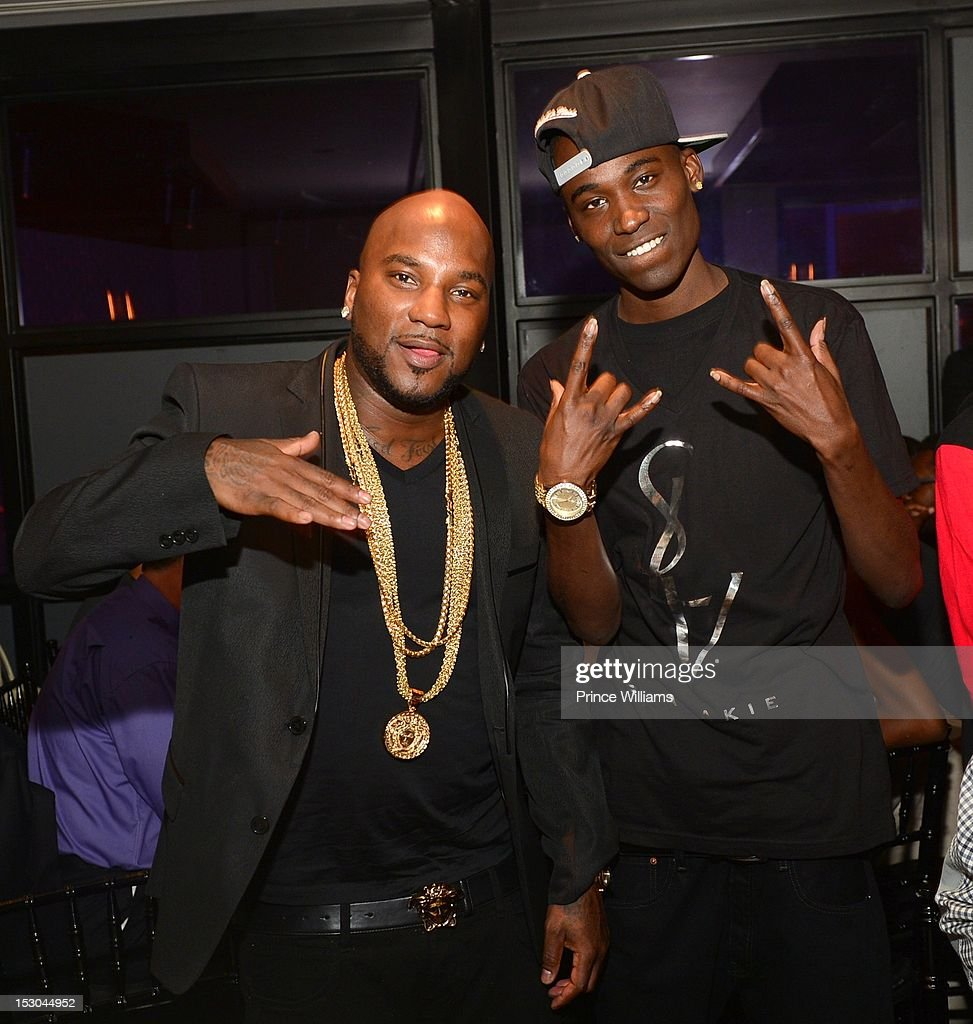 Young Jeezy and Lil Lody attend Jeezy's birthday extravaganza at Reign Nightclub on September 28 2012 in Atlanta Georgia