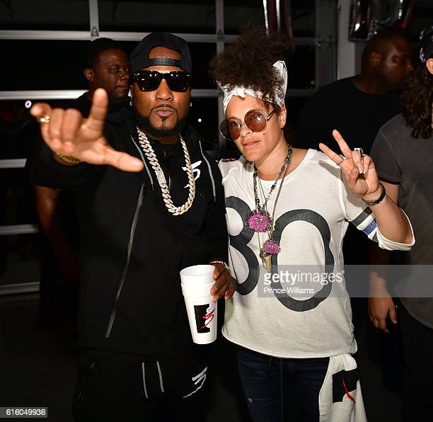 Young Jeezy and Mali Hunter attend 'Trap or Die 3' Listening Party at The B Loft on October 20 2016 in Atlanta Georgia