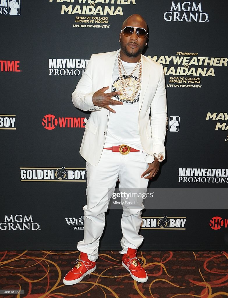 Young Jeezy attends the Mayweather Vs. Maidana Pre-Fight Party Presented By Showtime at MGM Garden Arena on May 3, 2014 in Las Vegas, Nevada.