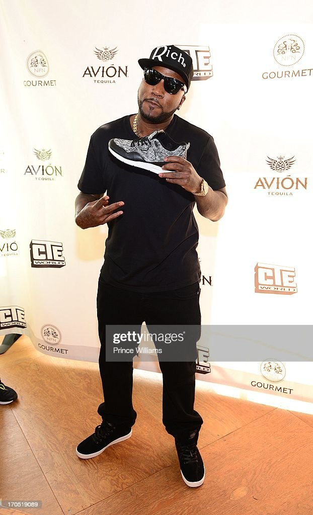 Young Jeezy attends the Young Jeezy and Gourmet Footwear branding partnership launch at Wish Shoe Store on June 13, 2013 in Atlanta, Georgia.