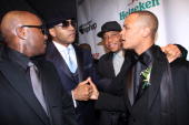 Young jeezy LL Cool J Russell Simmons and TI attend the Hip Hop Summit Action Network Inaugural Ball at the Harman Center for the Arts on January 19...