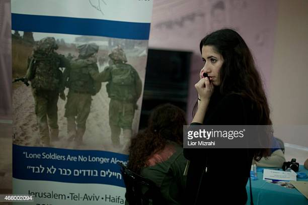 A young Jew from France participates in a Aliyah fair on March 11 2015 in Jerusalem Israel The recent wave of antiSemitism that has swept over France...