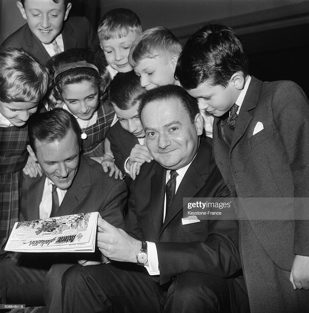 Young Jury Awarded Renéé Goscinny And Albert Uderzo's Comic Book 'Astérix Le Gaulois' in Paris France on November 16 1962